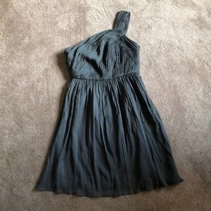 J Crew one shoulder silk chiffon dress, 8P